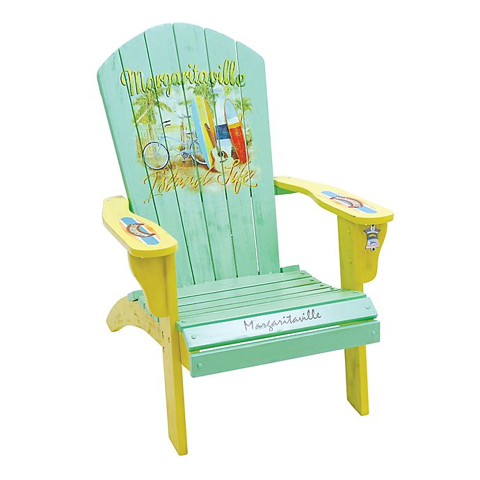 Margaritaville 174 Island Life Adirondack Chair In Mint Bed