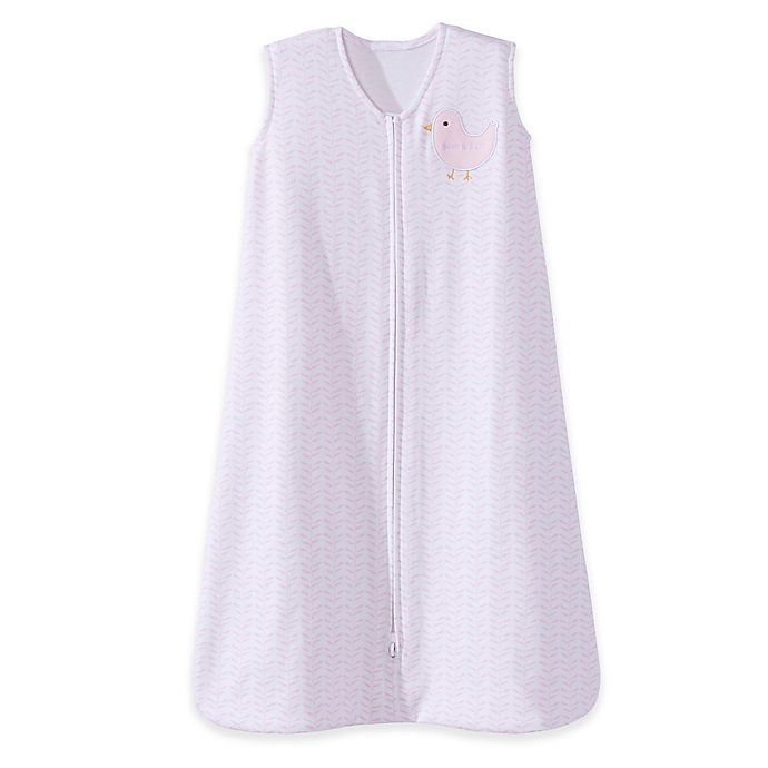 Alternate image 1 for HALO® SleepSack® Small Twine Bird Cotton Wearable Blanket in White/Pink