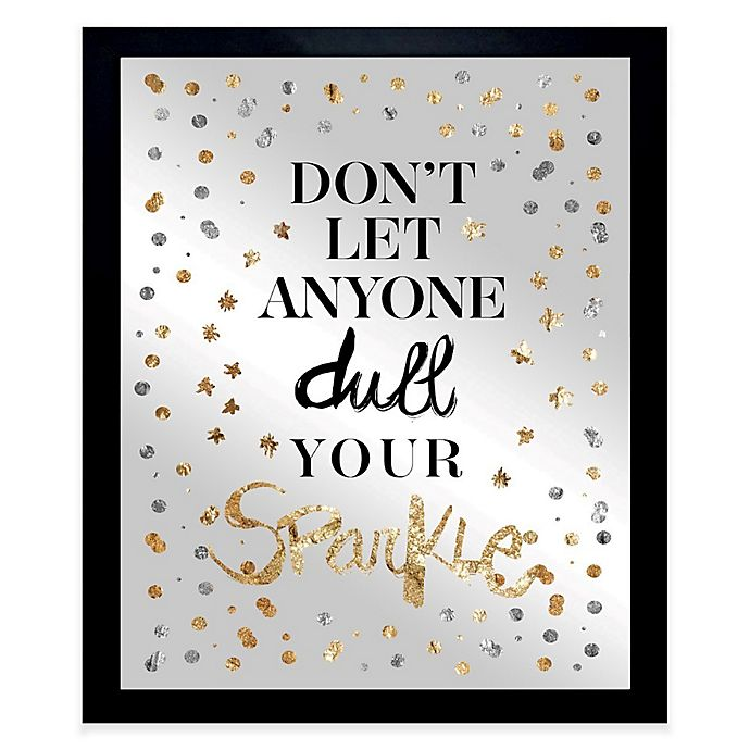 Alternate image 1 for Oliver Gal Always Shine Confetti Framed Printed Mirror Wall Art