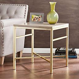 Southern Enterprises Orinda End Table in Matte Brass