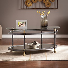 Southern Enterprises Allesandro Cocktail Table in Dark Grey