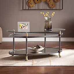 Southern Enterprises Allesandro Cocktail Table in Dark Grey