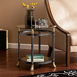 Southern Enterprises Allesandro End Table in Dark Grey
