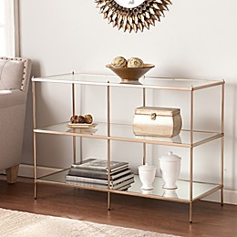 Southern Enterprises Knox Console Table in Gold