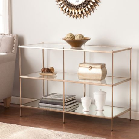 Southern Enterprises Knox Console Table in Gold | Bed Bath ...