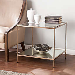 Southern Enterprises Knox End Table in Gold
