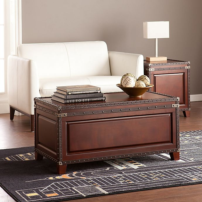 Alternate image 1 for Southern Enterprises Amherst Trunk Cocktail Table in Dark Cherry