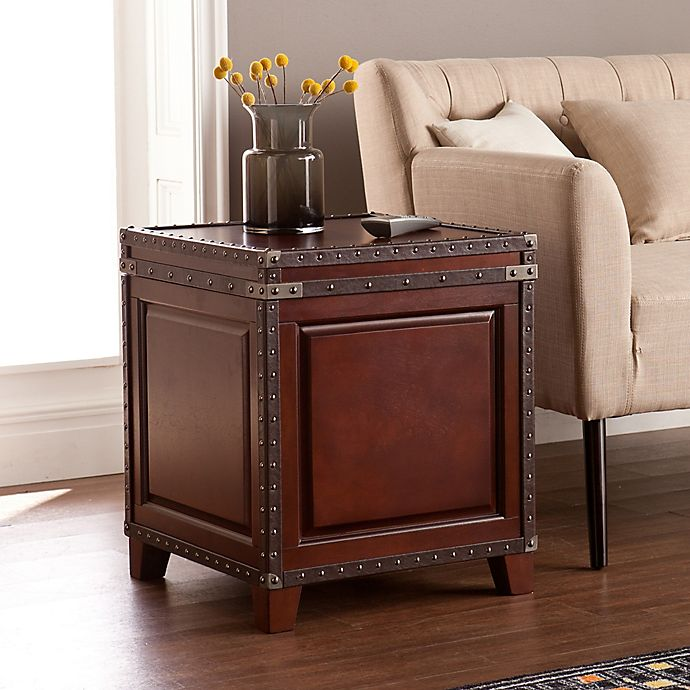Alternate image 1 for Southern Enterprises Amherst Trunk End Table in Dark Cherry
