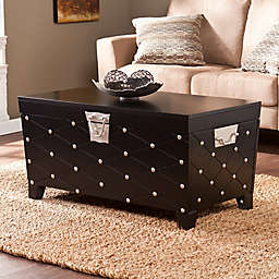 Southern Enterprises Nailhead Cocktail Table in Black