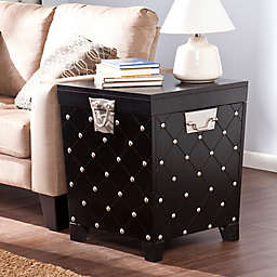 Southern Enterprises Nailhead End Table in Black