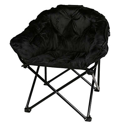 Folding Faux Fur Club Chair