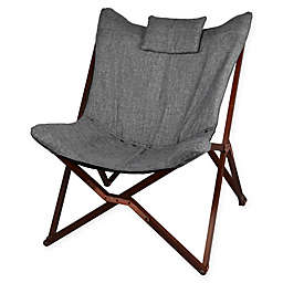 Modern Linen Chair with Wooden Legs