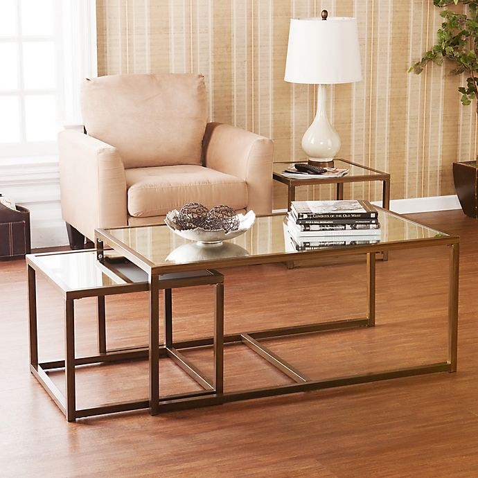 Alternate image 1 for Southern Enterprises 3-Piece Nested End/Cocktail Table Set in Bronze