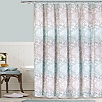 Colordrift Waterolor Damask Shower Curtain