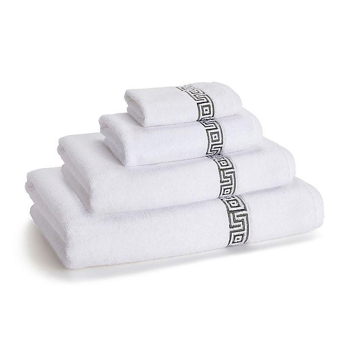Greek Key Bath Towel Collection