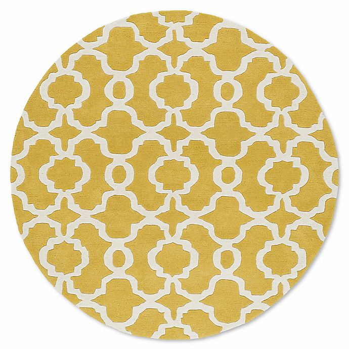 Alternate image 1 for Kaleen Tara Malta 11-Foot 9-Inch Round Area Rug in Yellow