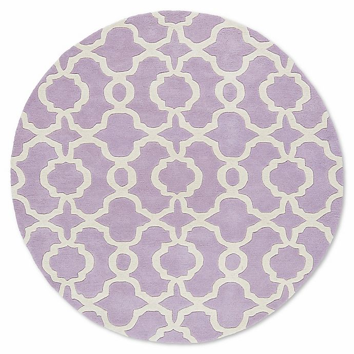 Alternate image 1 for Kaleen Tara Malta 11-Foot 9-Inch Round Area Rug in Lilac