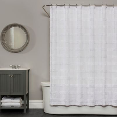Market Street Bath Brigitte 72 Inch X Shower Curtain In White