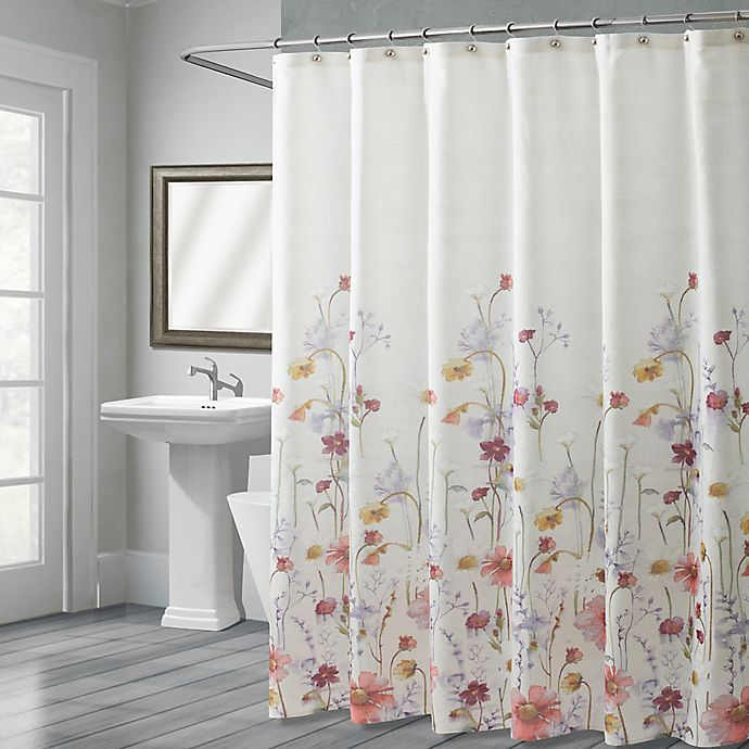 Alternate image 1 for Croscill® Pressed Flowers 72-Inch x 72-Inch Shower Curtain