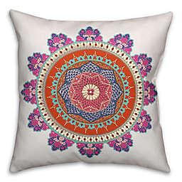 Designs Direct Boho Pink Medallion Throw Pillow