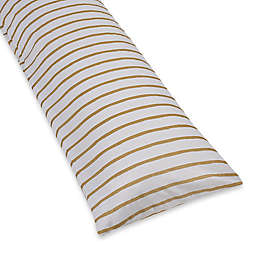 Equip Your Space Full-Length Body Pillow Cover in Gold Stripe