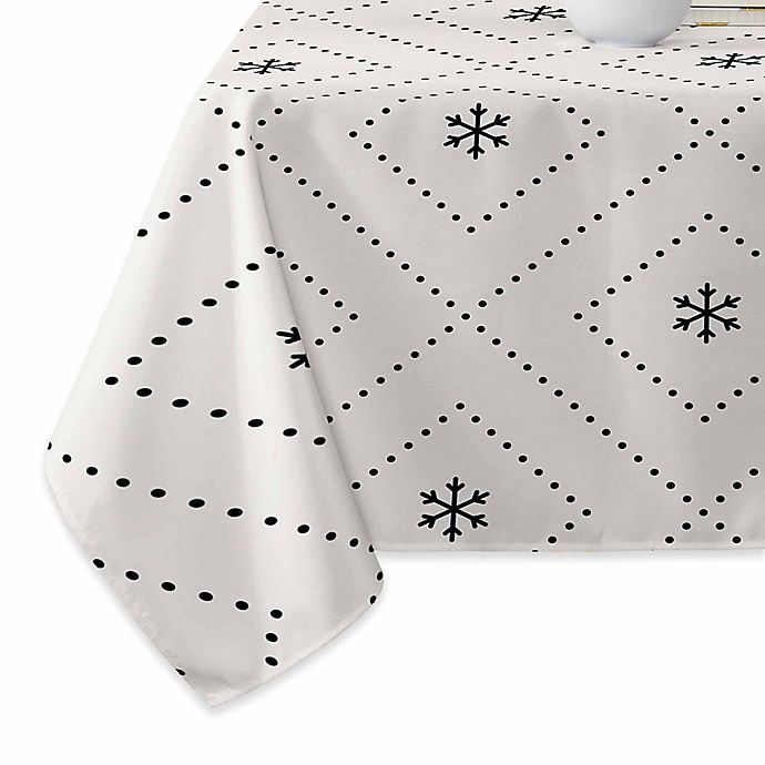 Alternate image 1 for Deny Designs Creamy Dreamy Tablecloth in Black