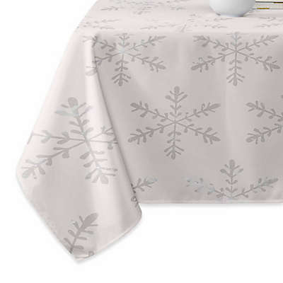 Deny Designs Snowflake 2V Tablecloth in Grey