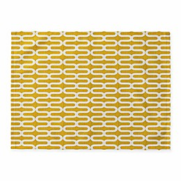 Deny Designs Kunda Spiral Placemats in Yellow (Set of 4)