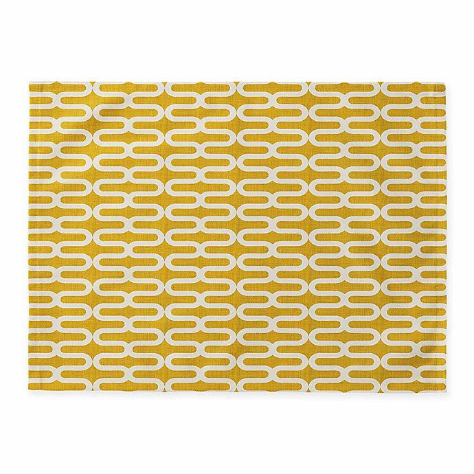 Alternate image 1 for Deny Designs Kunda Spiral Placemats in Yellow (Set of 4)