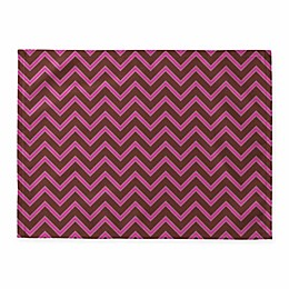 Deny Designs Mulberry Chevron Placemats in Burgundy (Set of 4)