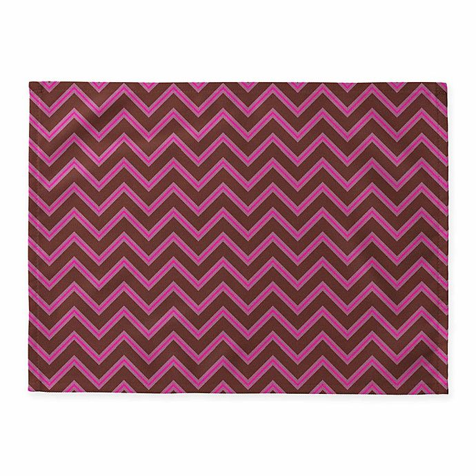 Alternate image 1 for Deny Designs Mulberry Chevron Placemats in Burgundy (Set of 4)