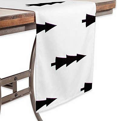 Deny Designs Joyeux Noel  90-Inch Table Runner in White
