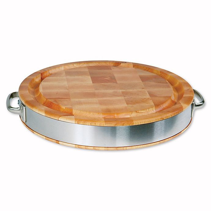 Alternate image 1 for John Boos 15-Inch Round Hard Rock Maple Cutting Board