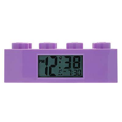 LEGO® Friends Brick Digital Alarm Clock in Purple