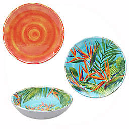 Birds of Paradise Melamine Dinnerware Collection