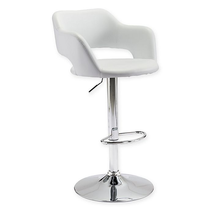 Alternate image 1 for Zuo® Hysteria Bar Stool in White