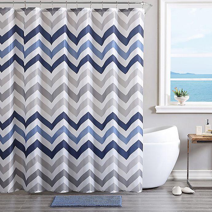 VCNY Corso Chevron 14-Piece Bath Bundle™ Set in Blue | Bed ...