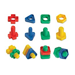 Edushape 48-Piece EZ-Grip Nuts & Bolts Set
