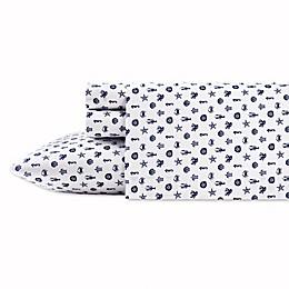 Poppy & Fritz® Sea Icons Twin XL Sheet Set in Navy