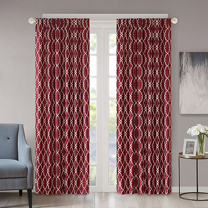 Alternate image 1 for Regency Heights Kendall 95-Inch Rod Pocket/Back Tab Window Curtain Panel in Burgundy