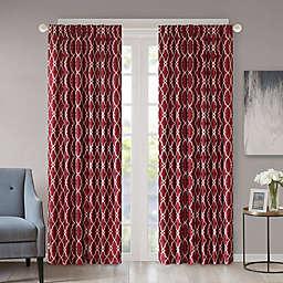 Regency Heights Kendall 108-Inch Rod Pocket/Back Tab Window Curtain Panel in Burgundy