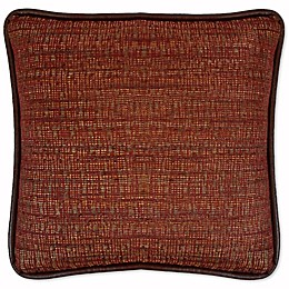 Austin Horn Classics Dakota Chenille Square Throw Pillow in Rust/Burgundy