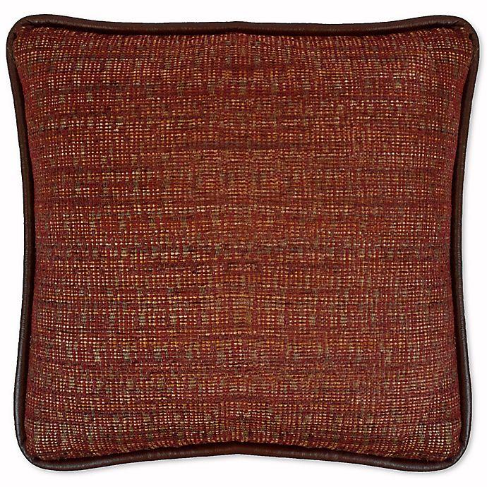 Alternate image 1 for Austin Horn Classics Dakota Chenille Square Throw Pillow in Rust/Burgundy