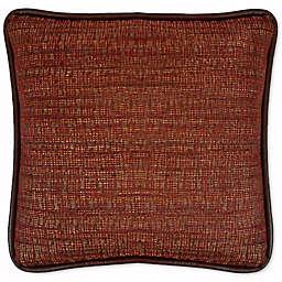 Austin Horn Classics Dakota Chenille Square Throw Pillow in Rust/Burgundy