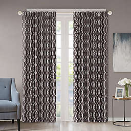 Regency Heights Kendall 108-Inch Rod Pocket/Back Tab Window Curtain Panel in Charcoal