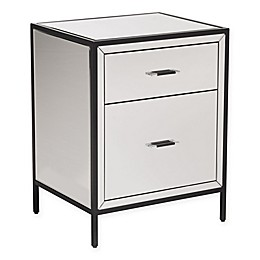 Zuo® Upton End Table with 2-Drawer in Mirror/Metal