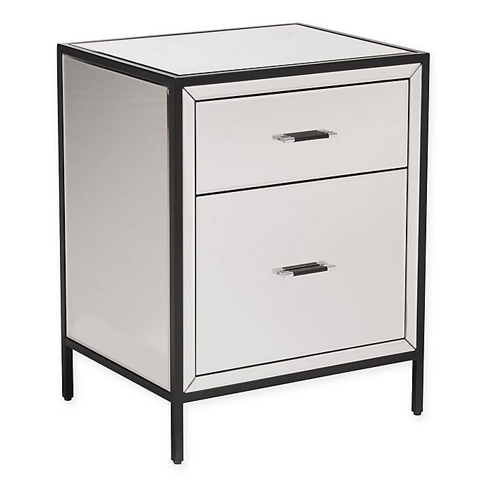 Alternate image 1 for Zuo® Upton End Table with 2-Drawer in Mirror/Metal