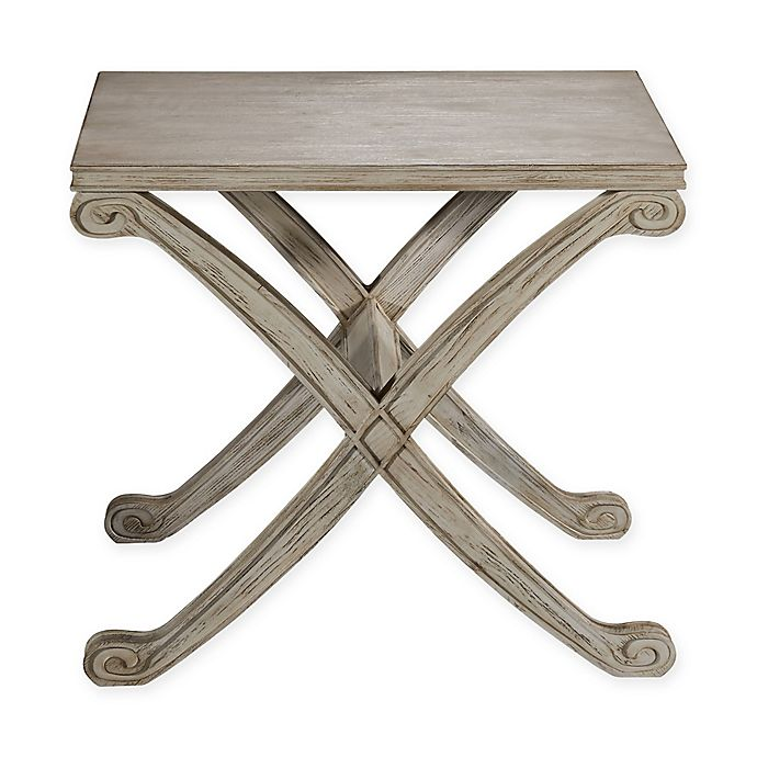 Bassett Mirror Company Camryn End Table In Rustic White