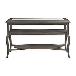 Bassett Mirror Company Belgian Luxe Raiden Rectangle Cocktail Table in Rustic Coffee Bean
