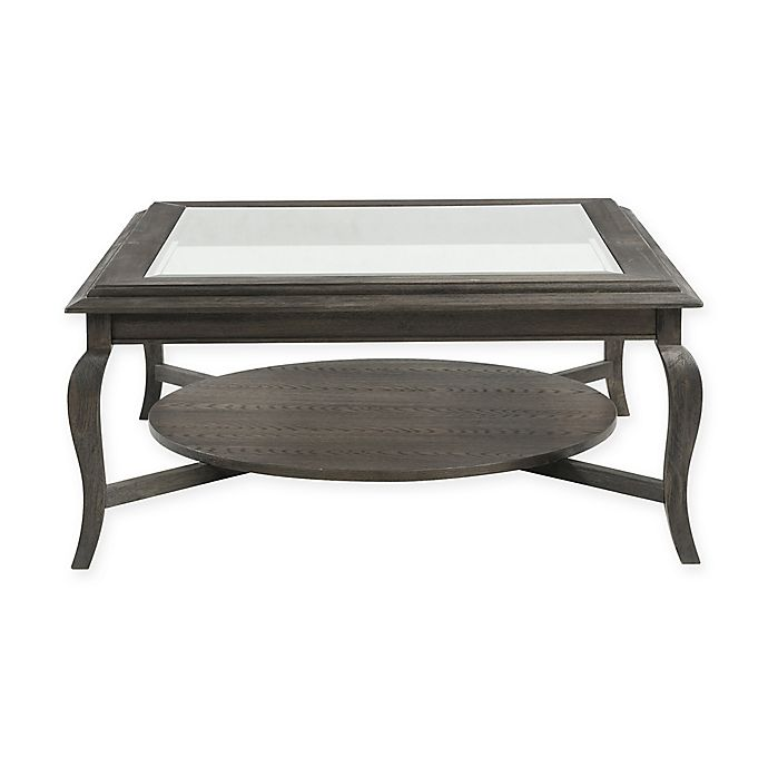 Bassett Mirror Company Belgian Luxe Raiden Square Cocktail Table In